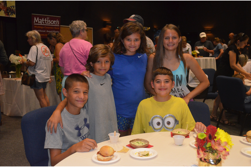 Isaac Escapa, 14, with siblings, Ian, 8, Isabel, 12, and Isaiah, 14, and friend, Maggie Bader, 13