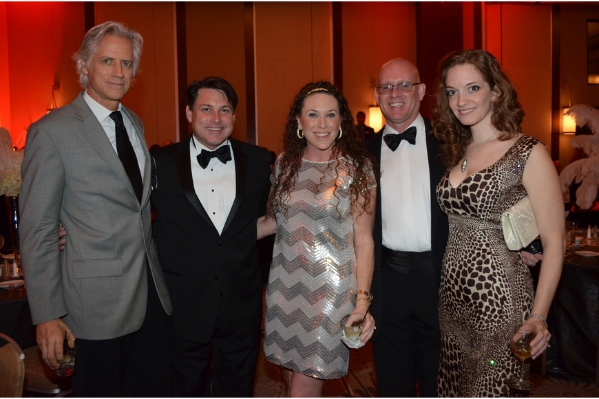 Chris Gallagher and John and Lisa Shepard with 