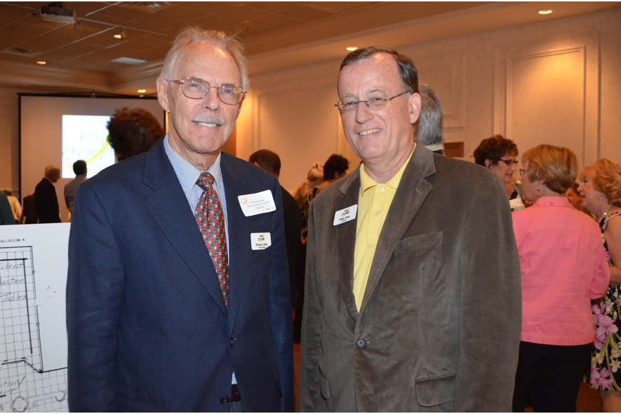 Board Vice President Richard Lilley and Board President Peter Gray