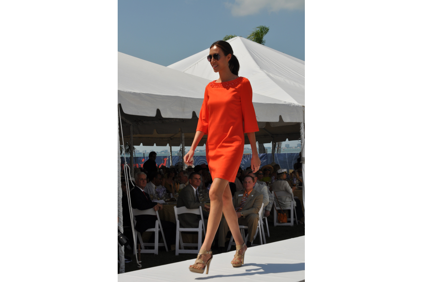 Models strutted the runway in Saks Fifth Avenue fashions.