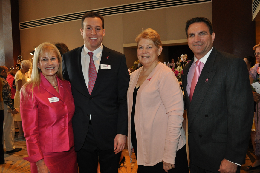 Co-Chairwoman Sherril Morse, guest speaker Eric Brinker,  Co-Chairwoman Ginny Cable and Troy Larkin