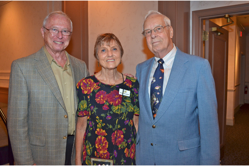 Vince Olson with Roberta and Carl Benninghoff