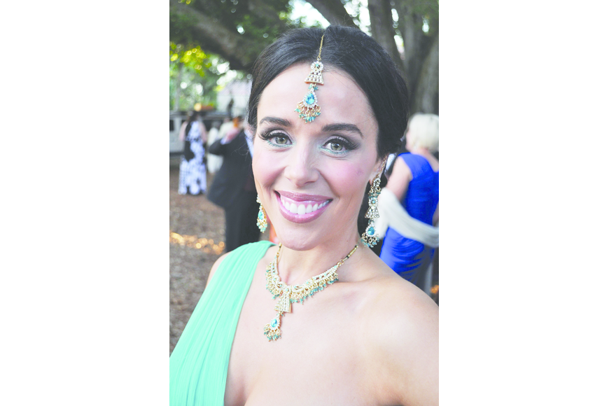 Kelly Engel at Orchid Ball April 6, at Marie Selby Botanical Gardens.