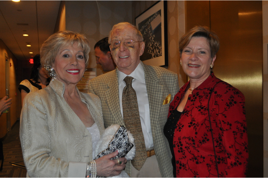 Event chairwoman Lee Peterson, with husband, Bob, and Asolo Rep Managing Director Linda DiGabriele