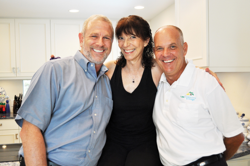 David Asher, of Eurotech Cabinetry, and Gregg Kaplan, of LBK Contractors and Design, and their client, Carolyn Michel.