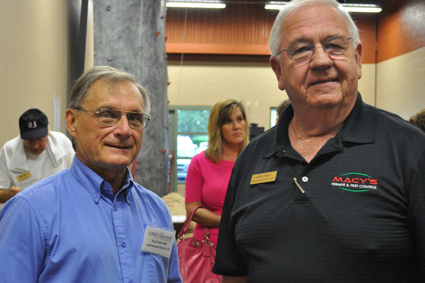 Paul Schmidt and John Macy met up at the networking social.
