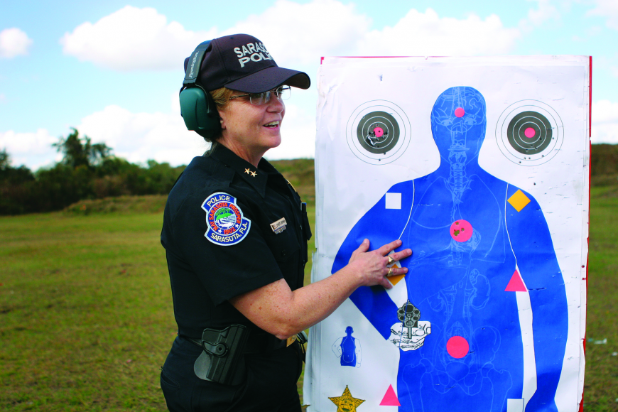 Sarasota Police Chief Bernadette DiPino is is trying to make bail — for charity.