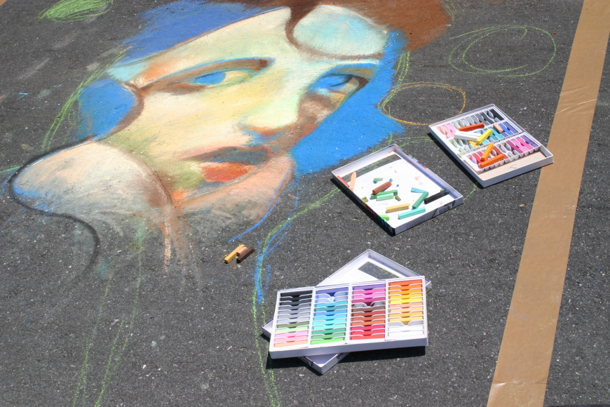 More than 250 street painters will create pieces at this year's festival.