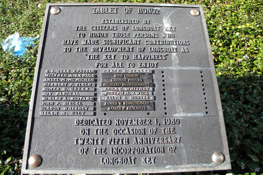 The Tablet of Honor currently bears the names of 18 citizens who contributed to the Key.