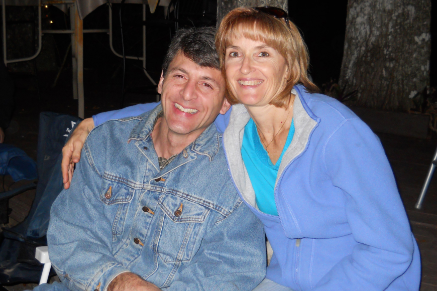 Lakewood Ranch residents Bruce and Martha Kleinberg enjoyed the campfire.