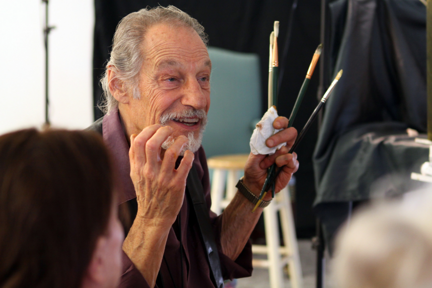 David Leffel answers a question during the first day of his workshop on Monday, Feb. 21. at the Longboat Key Center.