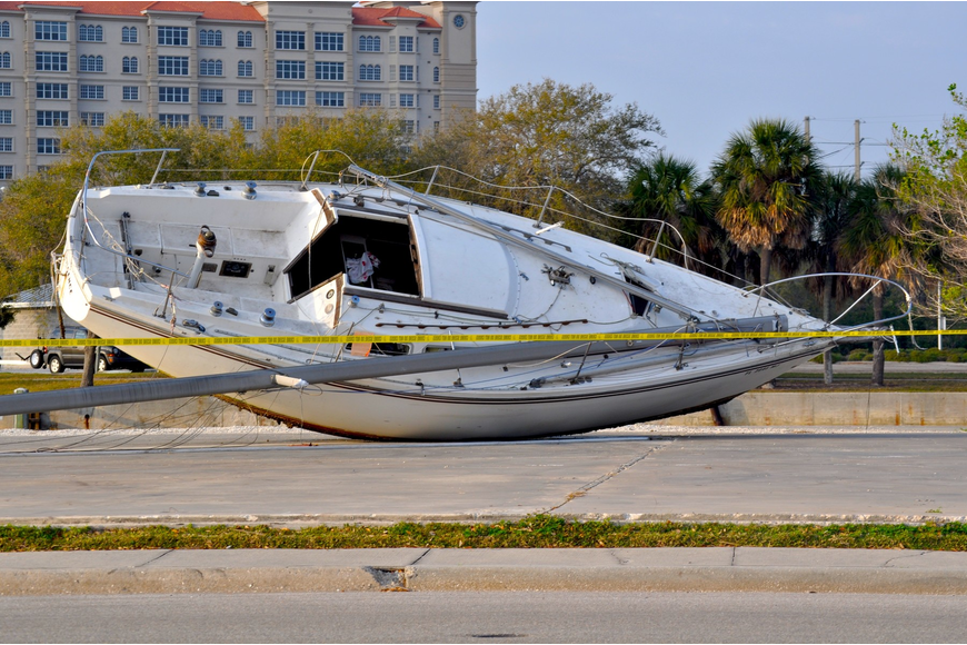 If you have information regarding how the sailboat ended up here, let us know!