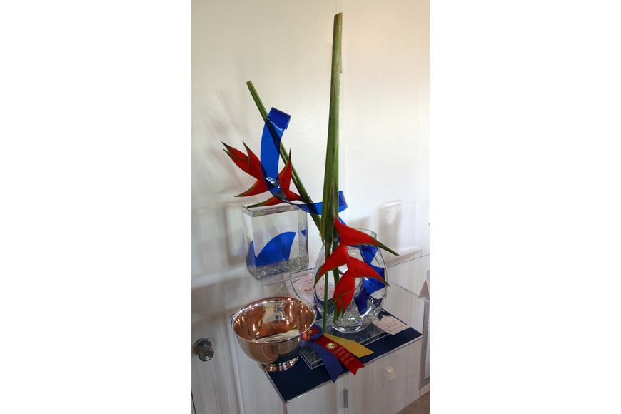 Eleanor Yates won the Tri-Color Award for her flower arrangement on Sunday, March 27 during the 74th Annual Sarasota Garden Club Flower Show.