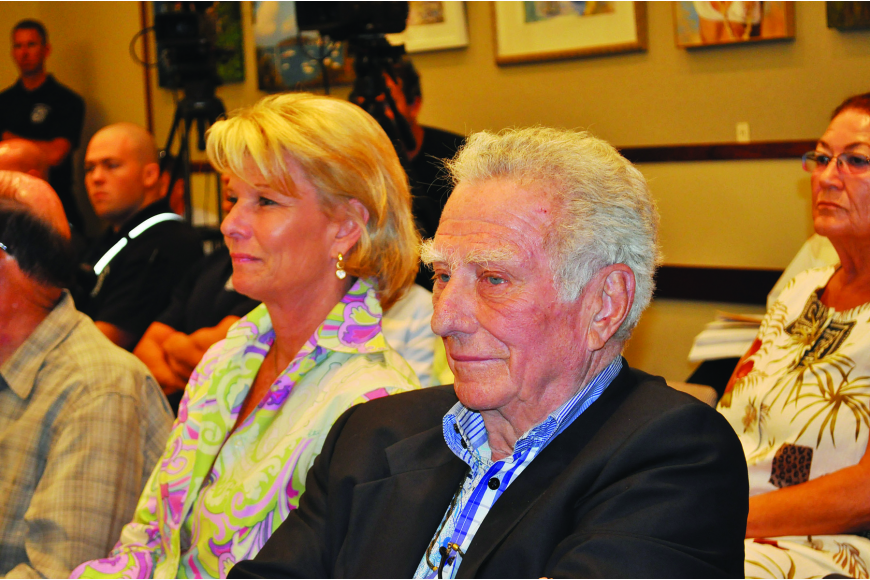 "Longtime Colony Beach & Tennis Resort owner and chairman Dr. Murray ""Murf"" Klauber and his daughter, Katie Moulton, attended the March 24 regular workshop to urge the commission to consider safety concerns at the shuttered resort."