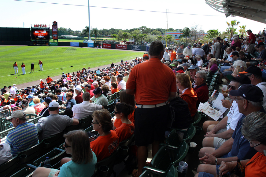 Ten of the Orioles 16 spring-training games sold out.