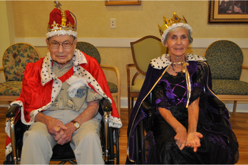 The king and queen: Herb Schiff and Colette Roan
