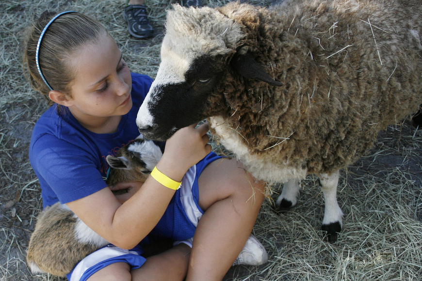Kate Walker, 9, loved all the animals in the petting zoo.