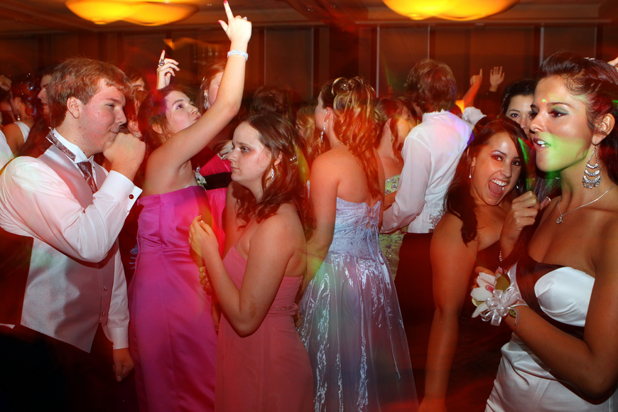 Sarasota High School students enjoy dancing around with their friends Saturday, May 14 at the Sarasota High School's prom at the Hyatt Regency.