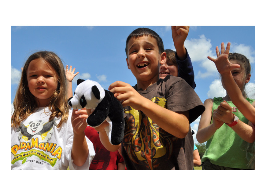 Seven-year-old Nathan Inverso was thrilled when he caught a panda during the outdoor activity.