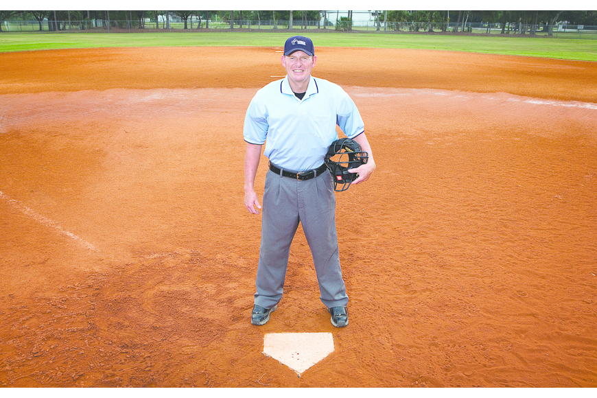 Christ Hunt, who currently co-runs a private investigation firm in Sarasota, is training to become a baseball umpire.
