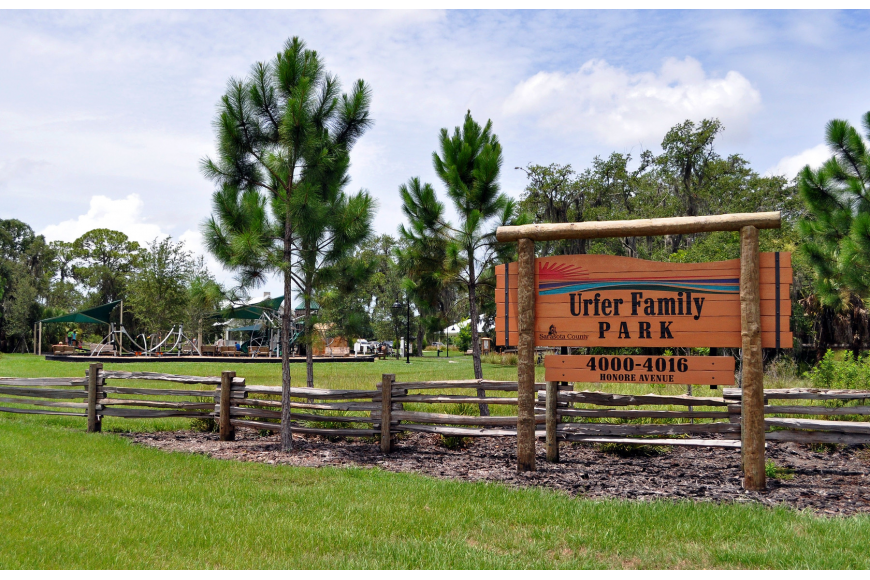 "Recently awarded the Leadership in Energy and Environmental Design Gold Certification by the U.S. Green Building Council, Urfer Family Park has also been nominated for ""America's Favorite Park."""
