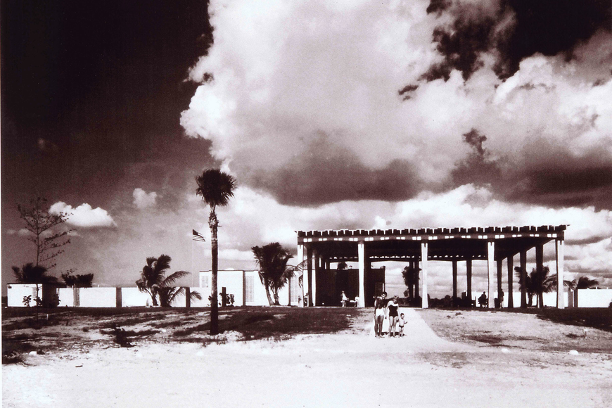 The Siesta Beach Pavilion has been a focal point for the public beach since it was dedicated in 1960. Photos courtesy of the Sarasota County History Center.