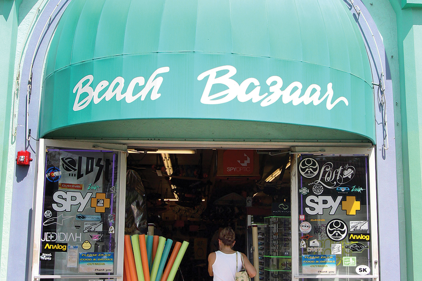 Beach Bazaar customers have been gathering up souvenirs as well as beach supplies. Photo by Rachel S. O'Hara.