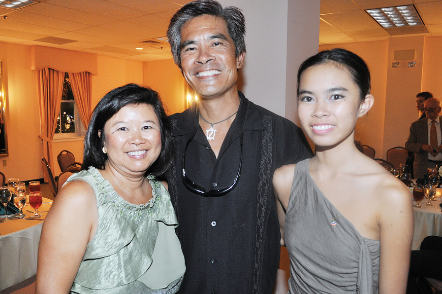 Brenda and Danny Chin and their daughter, student dancer Katie. Photo by Molly Schechter.
