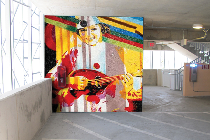 This is a depiction of how a Palm Avenue parking garage wall could look. Courtesy photo.