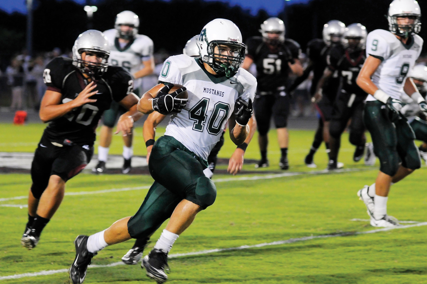 Lakewood Ranch running back McKenzie Hathaway rushed for 133 yards and two touchdowns, helping lead the Mustangs to victory Sept. 2.