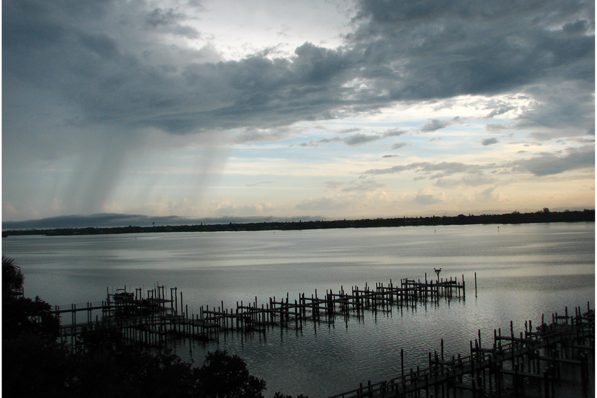 Arlene Fortsch caught this early morning rain over Little Sarasota Bay.