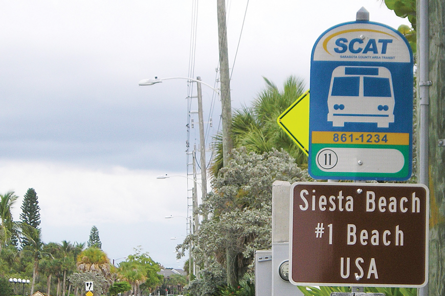 Key business owners are happy to have some signage up to mark Siesta Beach's No. 1 ranking in the country, but they hope to see better displays in the future.