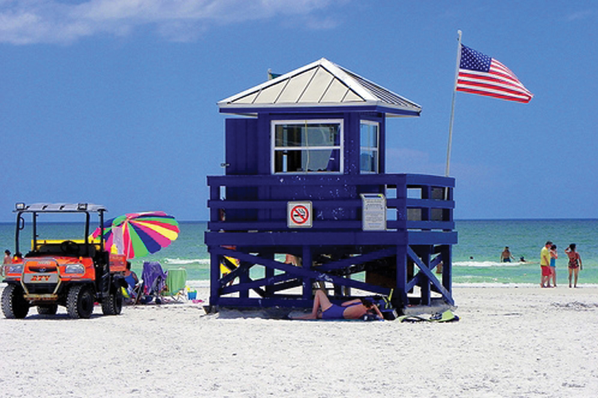 Carolyn Bistline submitted this week's photo of one of the colorful lifeguard stands on Siesta Key Public Beach.