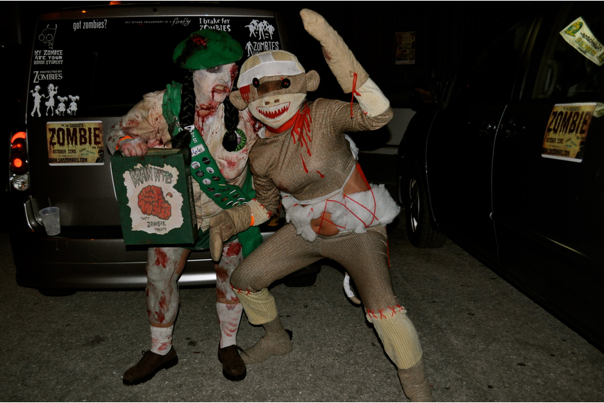 Dee Rodgers and Sally Pruna got zombiefied for the event.