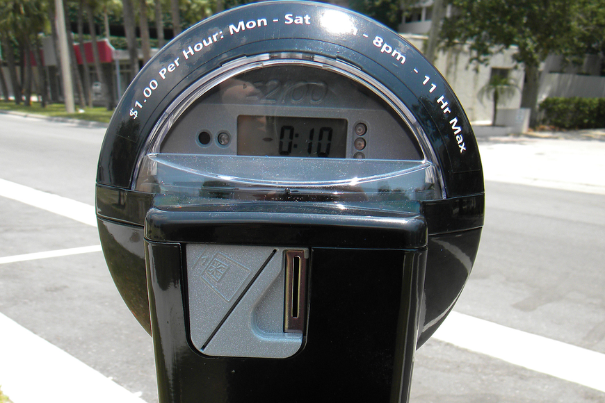 Once again, paid parking rates are at their maximum level in downtown Sarasota. Photo by Norman Schimmel