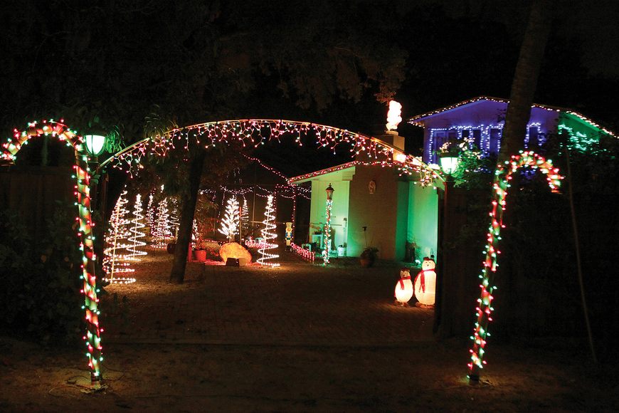 This beauty was definitely the brightest star on Higel Avenue, dominating all the rest to become our top pick for decorated single-family homes in The Observer Group's Light Up the Key Contest for Siesta. Photos by Rachel S. O'Hara