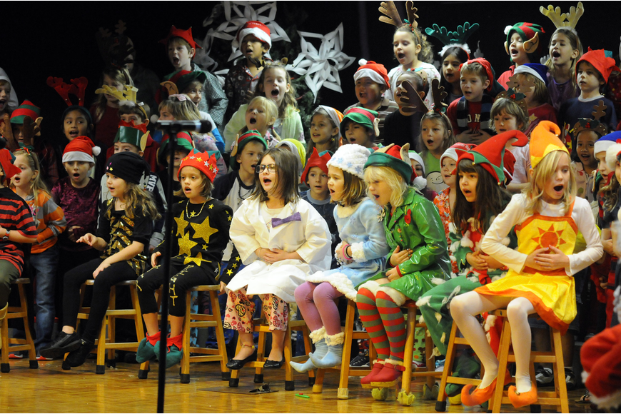 First-graders at Gene Witt Elementary School performed The Incredible Reindeer Dec. 15-16.