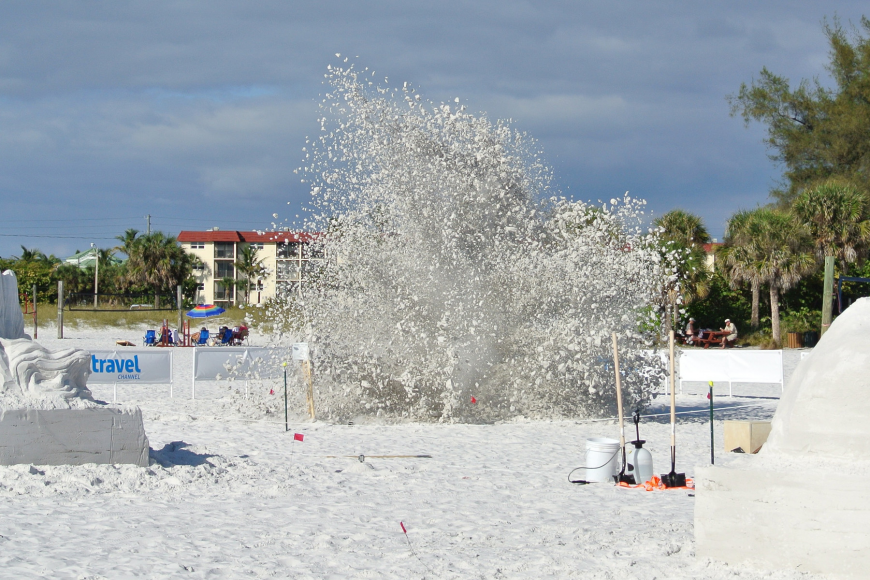 The sand sculpture with the fewest audience votes was