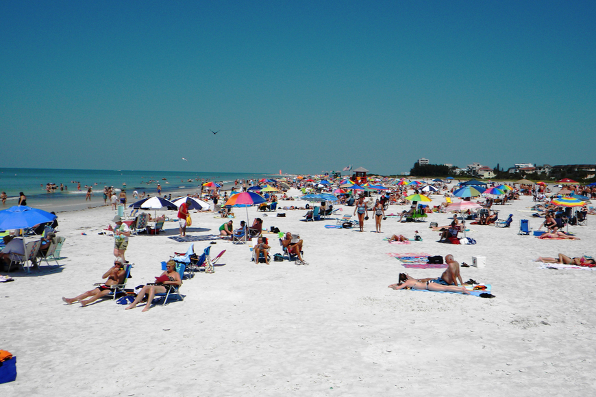 Visitors coming to Sarasota County to see the top beach in the country in 2011 helped push county tourism tax collections to a level not seen in several years. Photo by Norman Schimmel