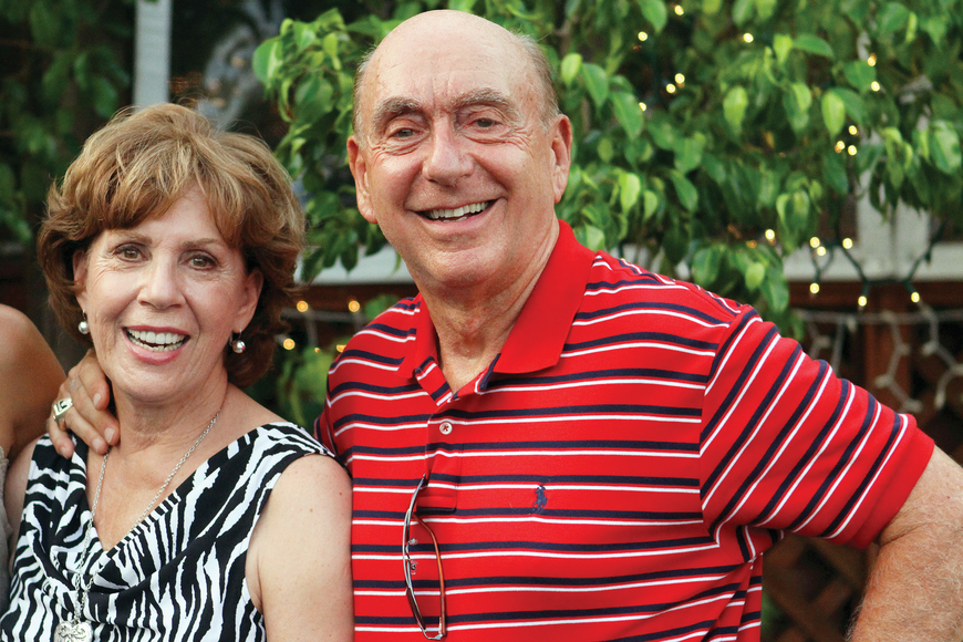 Dick and Lorraine Vitale hosted a V Foundation fundraiser at Cafe Gabbiano in the Village.