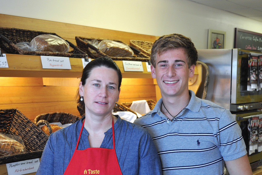 Tanja Hoffman and her son, Robin, say they love operating their new bakery on Siesta Key.
