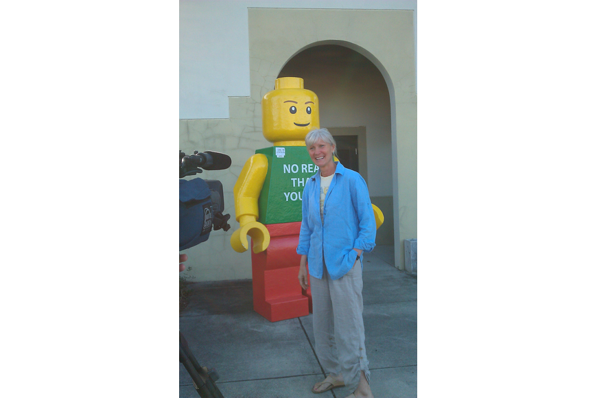 Legoman was released Jan. 26 by the Sarasota County Sheriff's Office into the custody of Burns Square property owner and artist Denise Kowal, founder of the Sarasota Chalk Festival.