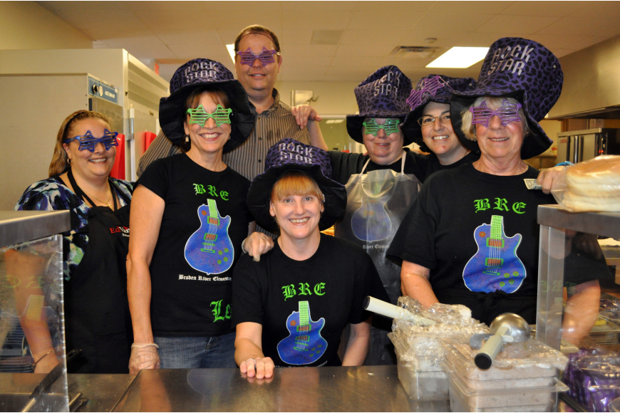 The Braden River Elementary cafeteria staff put together a special rock star menu for the event.