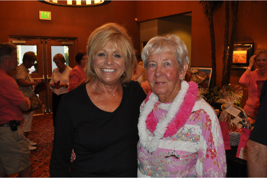 Chairwoman Ellie Brenan poses with Helen Krueger.
