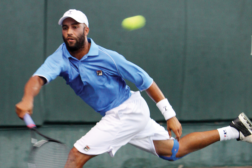 James Blake won last year's Sarasota Open. File photo.