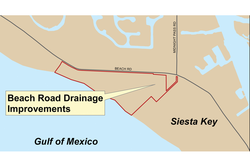 Beach Road drainage improvements have been delayed until July.