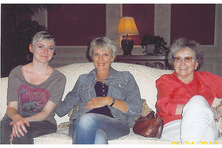 Three generations: Alex Bauman, Michelle Bauman and Sylvia Hall