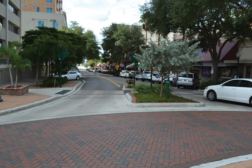 Main Street from the Five Points roundabout to Gulfstream Avenue could receive upgrades that include brick sidewalks as soon as the summer of 2013. File photo.