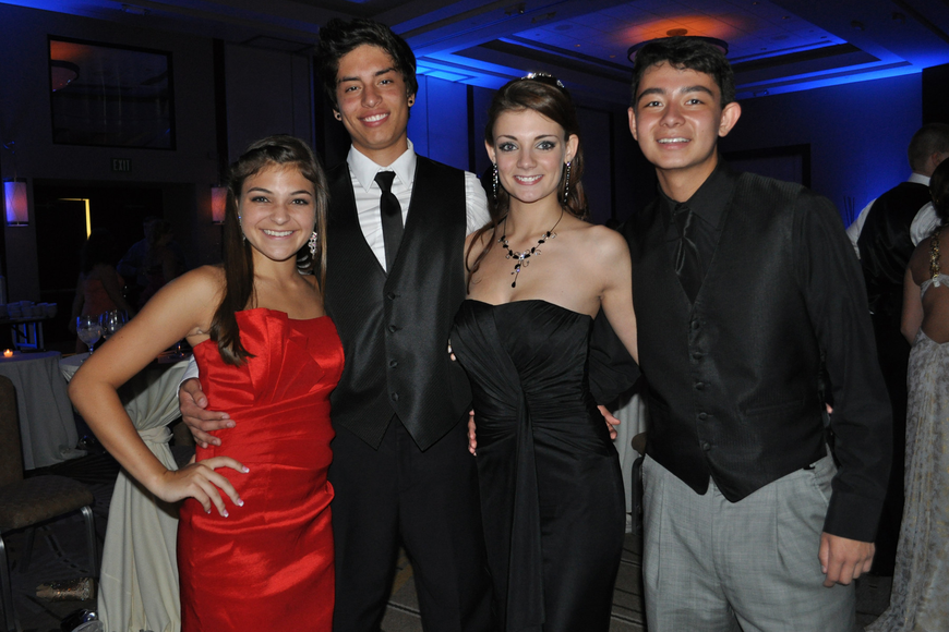 Brittany Rangel and Bryan Velasco with McKenzie MacLeod and Steven Donovan