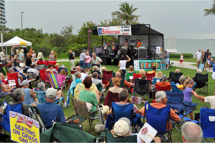Hundreds of people came out for the first Friday Fest of the season, Friday, June 8, at the Van Wezel.